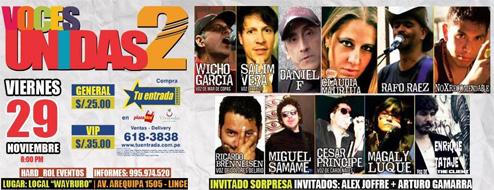 Voces Unidas 2: La reunión de los más grandes exponentes del rock peruano